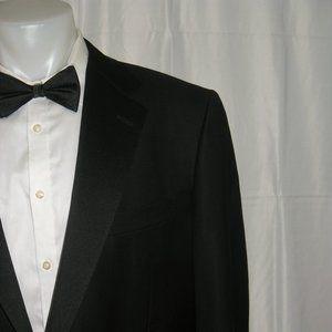Ermenegildo Zegna Black One Button Tuxedo 46L